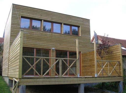 Une maison en bois ecologique for Maison ecologique bois